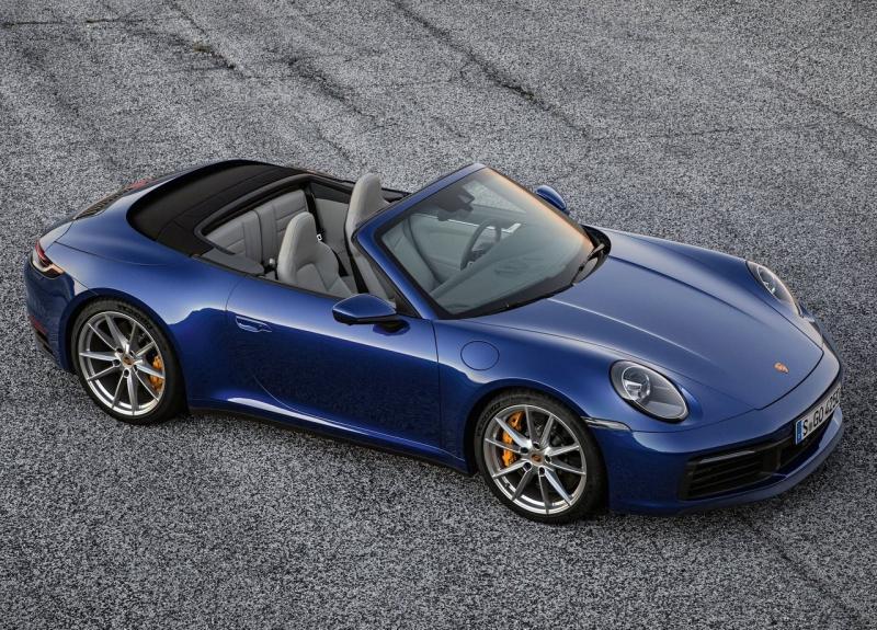 Porsche 911 Cabriolet 2019 – новый кабриолет Порше 911 серии 992
