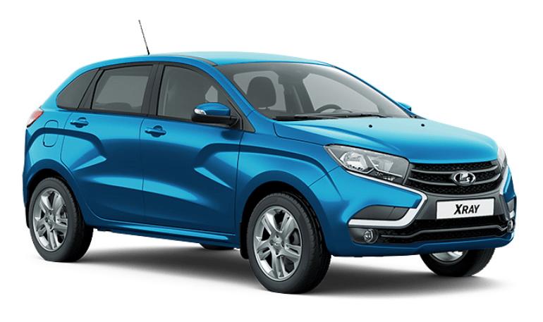Lada XRAY получил новый цвет кузова «Лазурно-синий»