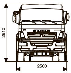 Шасси КамАЗ 6520: технические характеристики