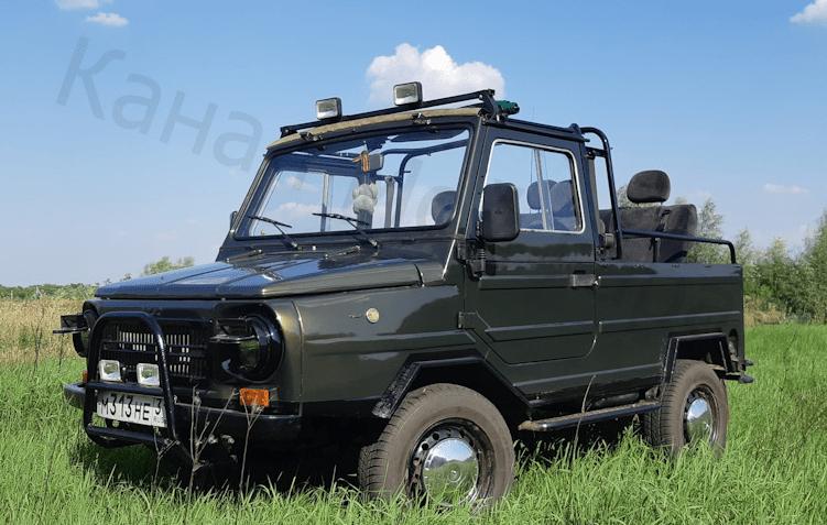 Красиво обновленный ЛуАЗ-969, идеально для отдыха и бездорожья.