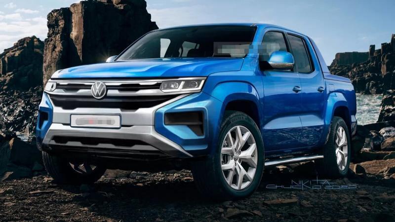 Внедорожный Volkswagen Amarok 2021. Совместно с Ford. Фото