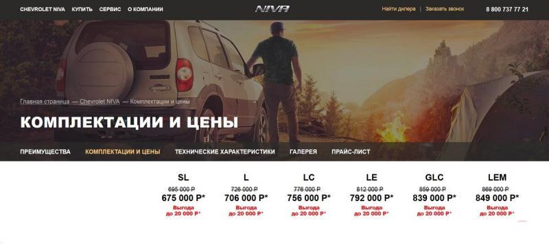 АВТОВАЗ показал цены на Новую LADA Niva