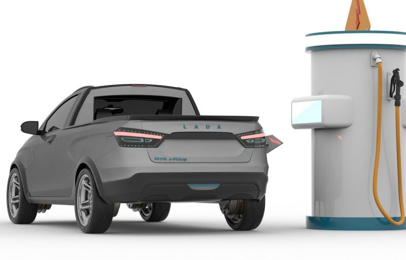 Электрическая LADA Vesta Pickup. Совсем свежие рендеры