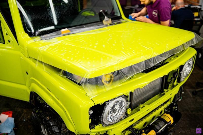 Как защитили салатовый Suzuki Jimny матовым полиуретаном Llumar