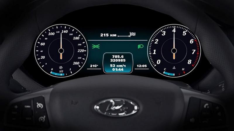 Lada Vesta наконец получила цифровую приборную панель