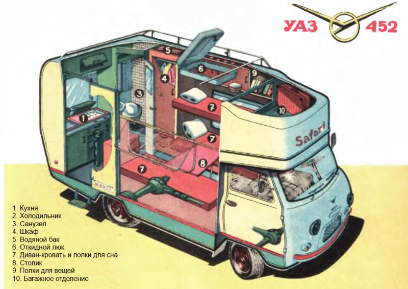 """Советская """"буханка"""" - комфортабельный дом на колесах"""
