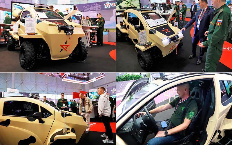 На форуме «Армия-2021» показали электрический вездеход для разведки