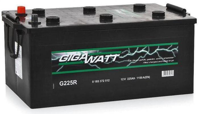 Автомобильные аккумуляторы GIGAWATT: отзывы, описание, характеристики